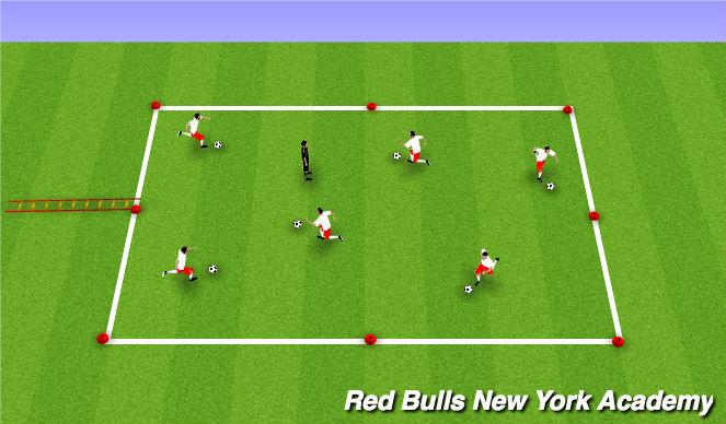 Football/Soccer Session Plan Drill (Colour): Treasure Tag