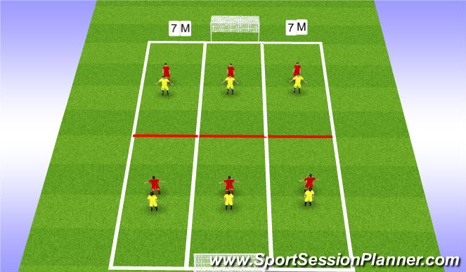 Football/Soccer Session Plan Drill (Colour): 1st Touch - Turning a Defender - Skill Training