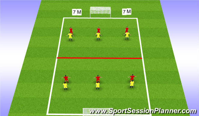 Football/Soccer Session Plan Drill (Colour): 1st Touch - Turning a Defender - Game