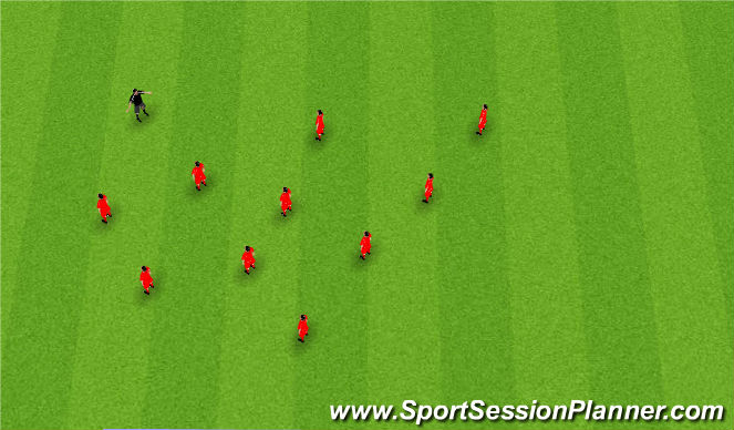 Football/Soccer Session Plan Drill (Colour): Static Stretching