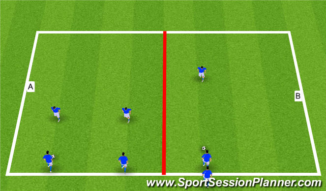 Football/Soccer Session Plan Drill (Colour): 3: Technical Warm-up
