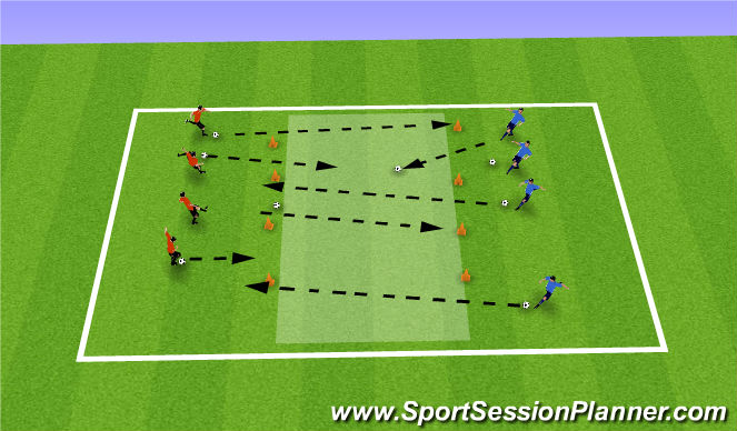 Football/Soccer Session Plan Drill (Colour): King of Cone