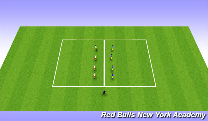 Football/Soccer Session Plan Drill (Colour): Red or Blue?