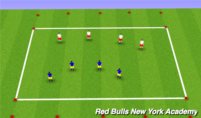 Football/Soccer Session Plan Drill (Colour): 4v4 to endzones