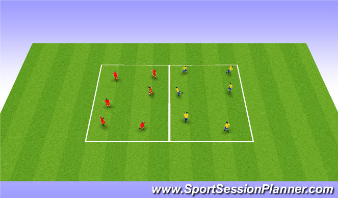 Football/Soccer Session Plan Drill (Colour): DL - Numbers Game