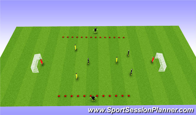 Football/Soccer Session Plan Drill (Colour): Dynamic taking space