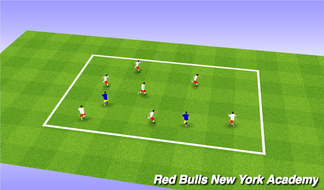Football/Soccer Session Plan Drill (Colour): Tag Games