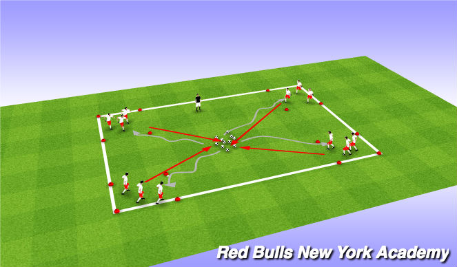 Football/Soccer Session Plan Drill (Colour): Bank Robbers