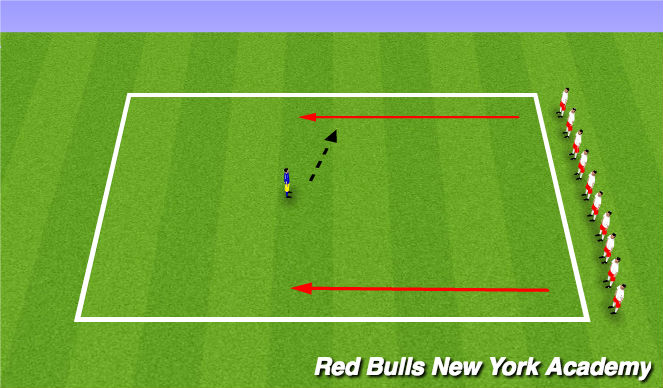 Football/Soccer Session Plan Drill (Colour): Toy Story Run