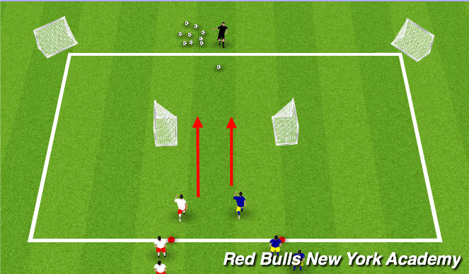 Football/Soccer Session Plan Drill (Colour): Opposite Goals Game