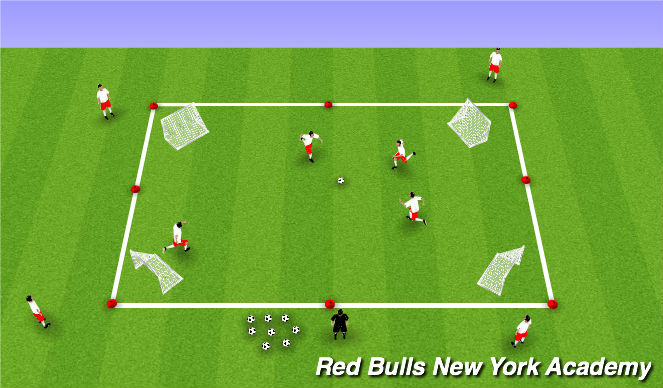 Football/Soccer Session Plan Drill (Colour): Egg Game