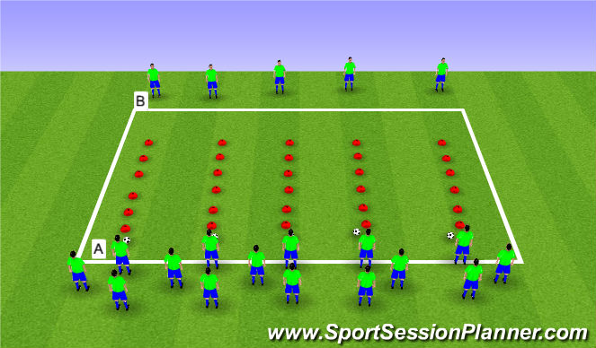Football/Soccer Session Plan Drill (Colour): Sprint/Fast Feet