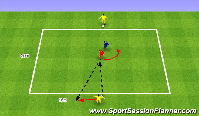 Football/Soccer Session Plan Drill (Colour): Gra MI nr 15.