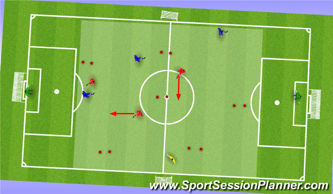 Football/Soccer Session Plan Drill (Colour): ssg 4v4