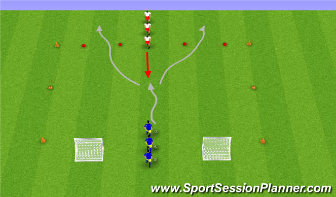 Football/Soccer Session Plan Drill (Colour): SSG (1v1)