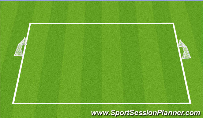Football/Soccer Session Plan Drill (Colour): Free Play (5 v 5)