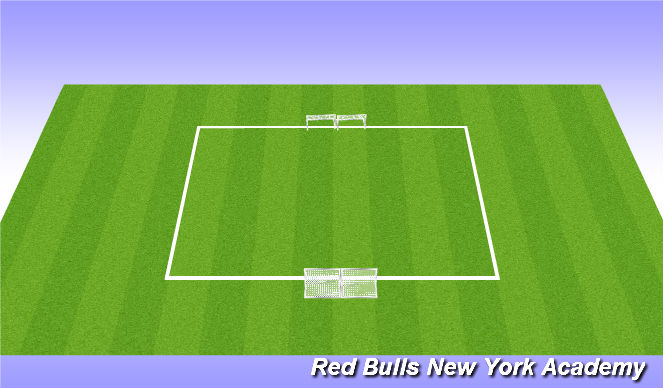 Football/Soccer Session Plan Drill (Colour): 6v6 game.