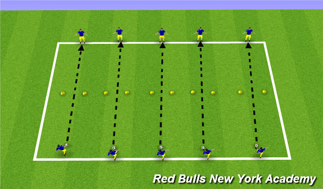 Football/Soccer Session Plan Drill (Colour): Technical Development - Passing