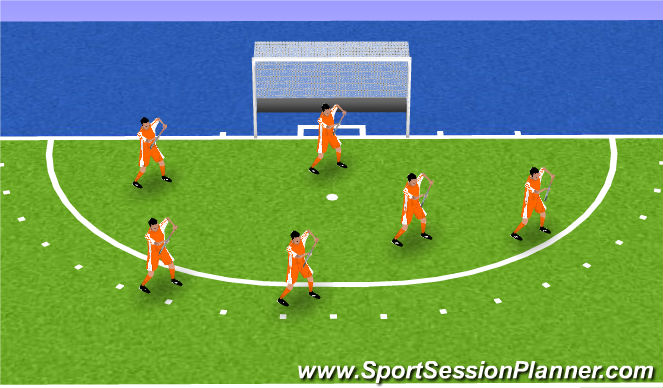 Hockey Session Plan Drill (Colour): tikkertje hockeybal
