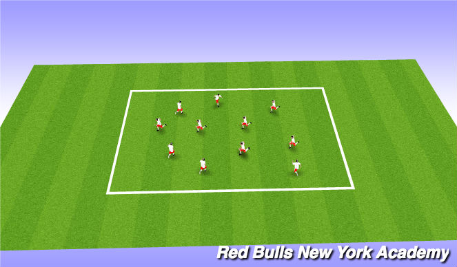 Football/Soccer Session Plan Drill (Colour): Tails