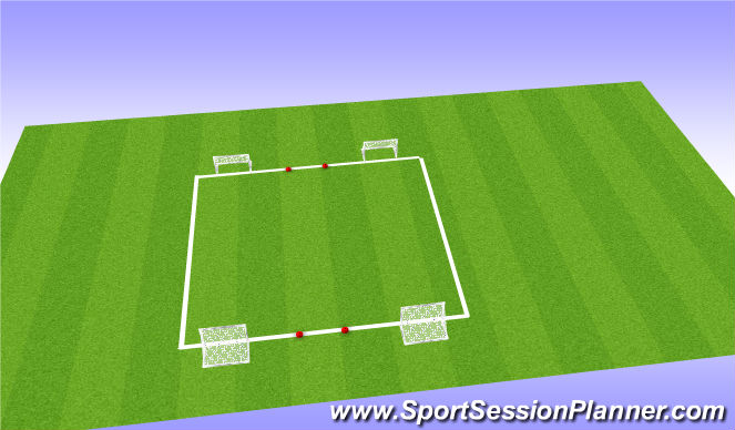 Football/Soccer Session Plan Drill (Colour): 1st Touch - Skill Training