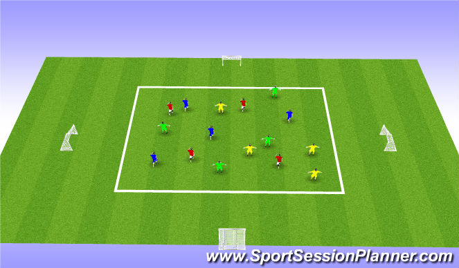 Football/Soccer Session Plan Drill (Colour): Number game
