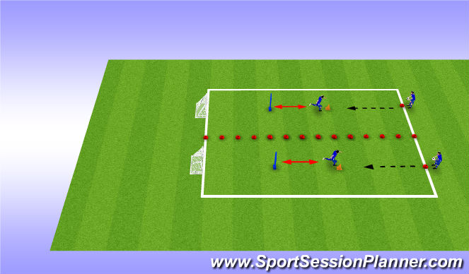 Football/Soccer Session Plan Drill (Colour): Drill 2.0