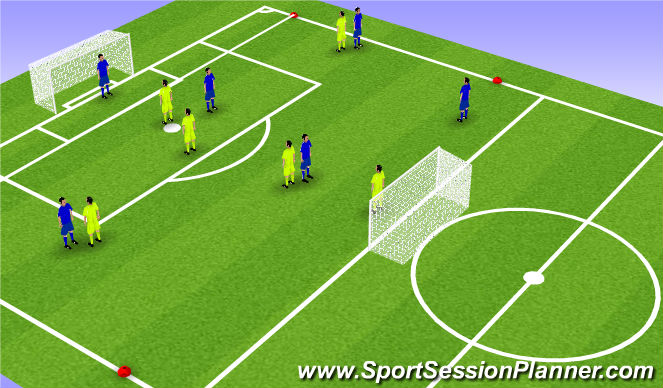 Football/Soccer Session Plan Drill (Colour): Cnditioned game