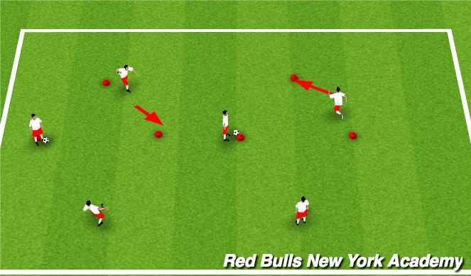 Football/Soccer Session Plan Drill (Colour): supporting angles
