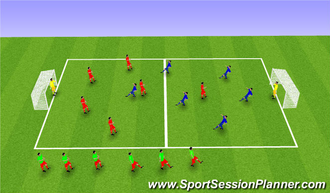 Football/Soccer Session Plan Drill (Colour): SSG Matches