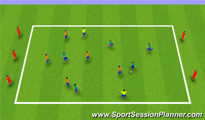 Football/Soccer Session Plan Drill (Colour): Sm Sided Possession Game