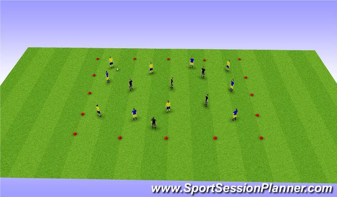 Football/Soccer Session Plan Drill (Colour): 5v5v5