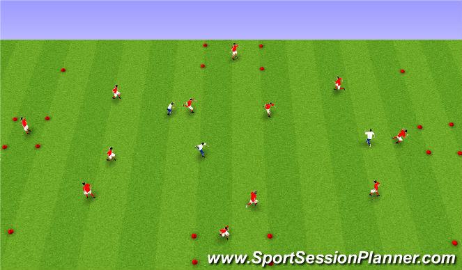 Football/Soccer Session Plan Drill (Colour): Upphitun án bolta