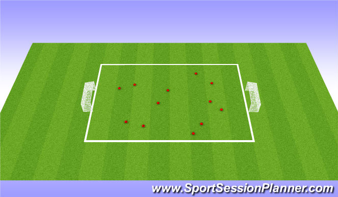 Football/Soccer Session Plan Drill (Colour): Warm Uo