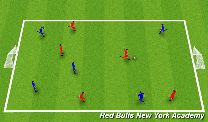 Football/Soccer Session Plan Drill (Colour): Shooting Game.