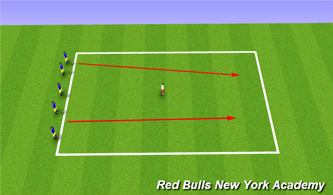 Football/Soccer Session Plan Drill (Colour): On the Freeway