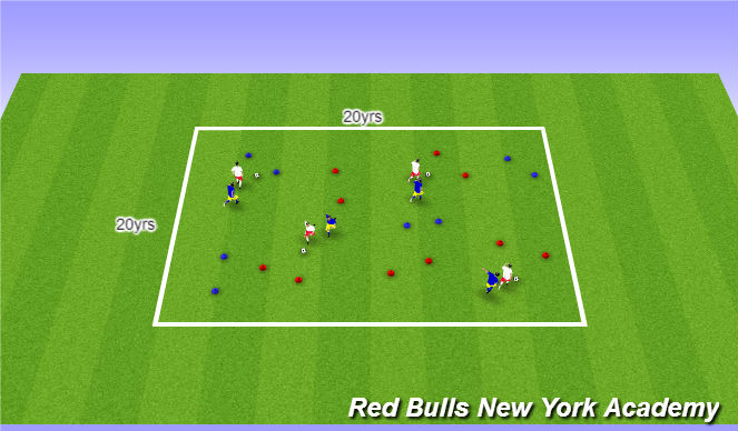 Football/Soccer Session Plan Drill (Colour): Main activity/Full opposed
