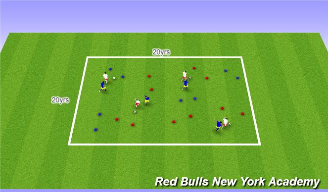 Football/Soccer Session Plan Drill (Colour): Main activity/Full opposed