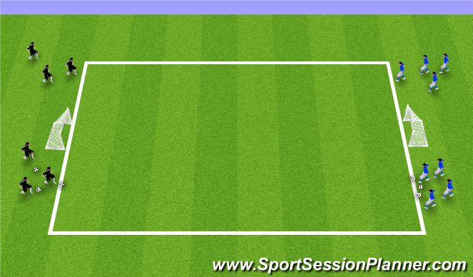 Football/Soccer Session Plan Drill (Colour): Station 3: Flying Changes Build-up Barcelona