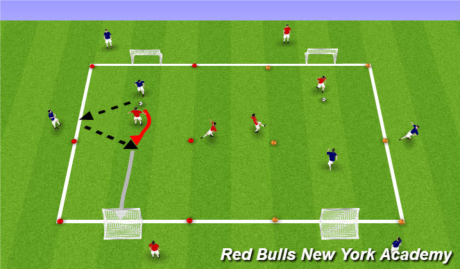 Football/Soccer Session Plan Drill (Colour): Extened small sided game