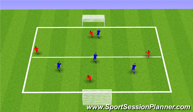 Football/Soccer Session Plan Drill (Colour): 4vs4