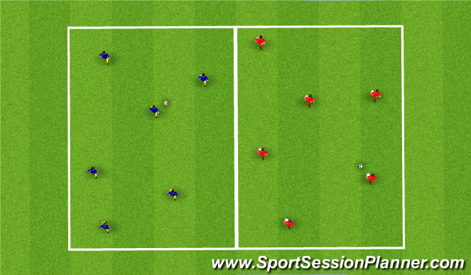 Football/Soccer Session Plan Drill (Colour): Opposed / Unopposed