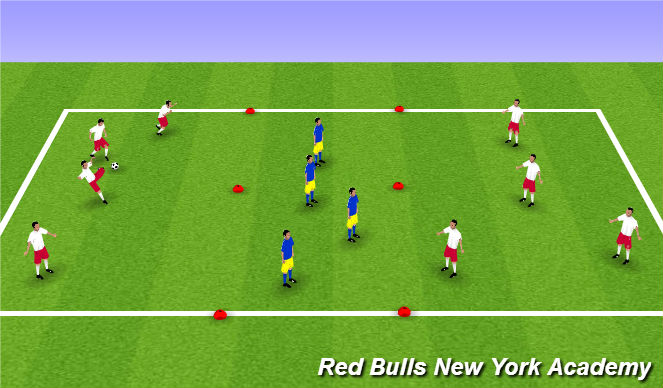 Football/Soccer Session Plan Drill (Colour): Possesion Game