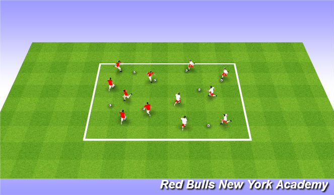 Football/Soccer Session Plan Drill (Colour): Wram up