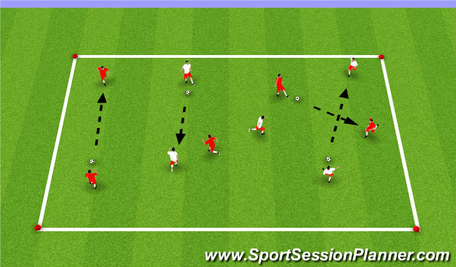 Football/Soccer Session Plan Drill (Colour): Passing&Receiving Box