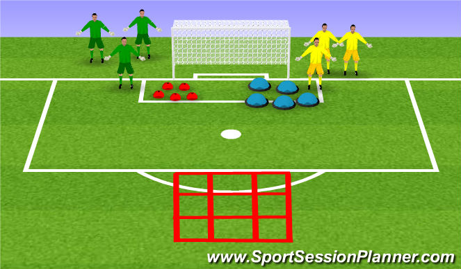 Football/Soccer Session Plan Drill (Colour): X & 0