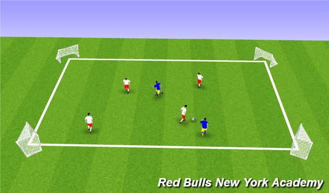Football/Soccer Session Plan Drill (Colour): small sided activity progression
