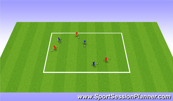 Football/Soccer Session Plan Drill (Colour): Shadow