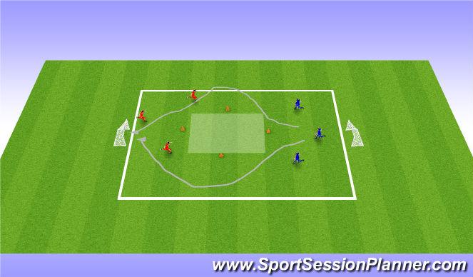 Football/Soccer Session Plan Drill (Colour): Outside/Inside Cut