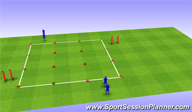 Football/Soccer Session Plan Drill (Colour): U-Move geen en lichte weerstand